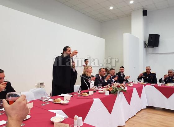 Μετά την τελετή του αγιασμού ο Δήμος Στυλίδας παρέθεσε στο κτίριο του ΟΣΚ την καθιερωμένη δεξίωση