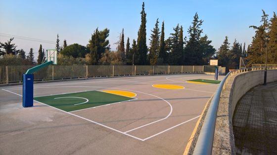 Στυλίδα: Ανακαίνιση του γηπέδου καλαθοσφαίρισης (μπάσκετ) του Δημοτικού Σχολείου Αχινού